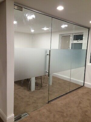 Commercial Office Glass Doors- CLEAR TOUGHENED GLASS includes all hardware