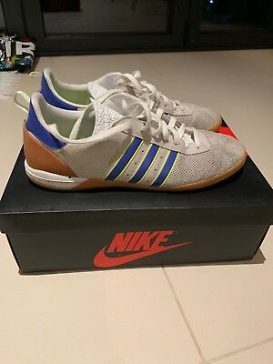 new product b08f1 10946 Palace X Adidas  PALACE INDOOR  Trainers In White And Royal Blue UK 10