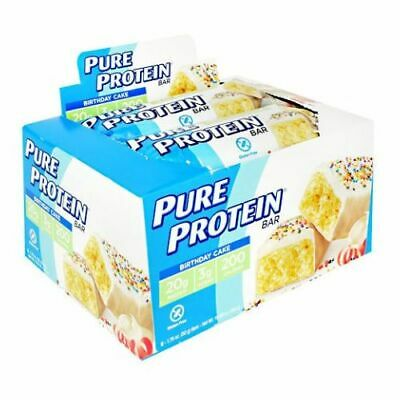 PURE PROTEIN BAR Birthday Cake 6 Bars By