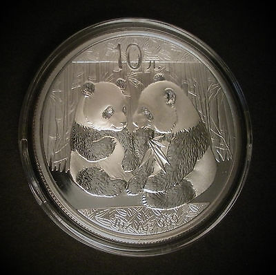 2009 China Silver Panda Coins 1 Oz. - Chinese 10 Yuan In Capsules