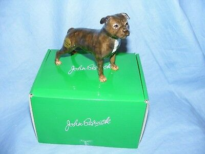 John Beswick Dog Staffordshire Bull Terrier Brindle JBD91 New Boxed Figurine