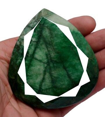 1180ct Big Museum Size Natural Pear Green Emerald Faceted Loose Gemstone On Ebay