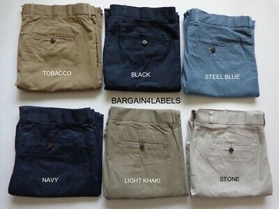 Mens Ex m&s Pure Cotton Water Resistant Active Waist Chinos Marks & Spencer