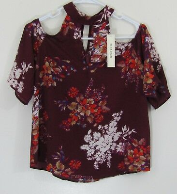 MONTEAU WOMAN'S COLD Shoulder NWT Multi-Color Shirt Size Small