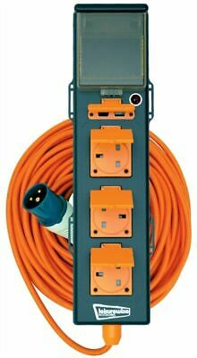 Leisurewize Camping 5 Way RCD 15M Mains Electric Power Hook Up Extension Lead