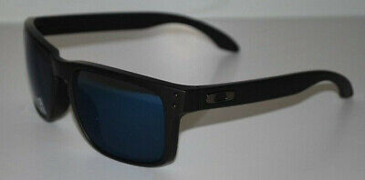 063737e4fee Oakley Holbrook Sunglasses OO9102-52 Matte Black Ice Iridium Polarized NEW