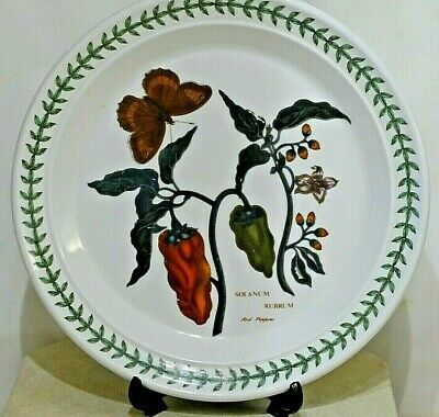 "PORTMEIRION Botanic Garden ~ 8.5"" Salad Plate ~ RED PEPPERS  ~ 1st Quality"