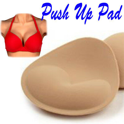 Womens Foam Insert Breast Bra Padded Push Up Bikini Bust Enhancer 1-5 Pairs DSM