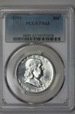 1950 Silver Proof Franklin Half Dollar PR63 PCGS United States Mint 50c Coin