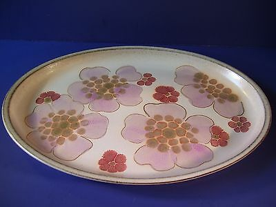 "Vintage Denby Pottery Gypsy Oval Serving Platter 12.5"" England Retro"