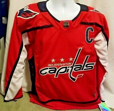 the latest ad408 dc492 WASHINGTON CAPITALS #8 Alex Ovechkin Captain Red 54 2x Adidas Jersey replica