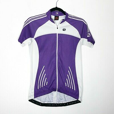 0ecc3e39a Giordana Ride Fit Cycling Jersey Womens Large Purple White Short Sleeve
