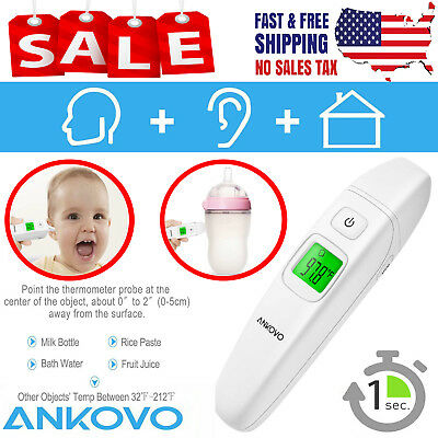 Ear and Forehead Thermometer Medical Digital Clinical Infrared For All Ages