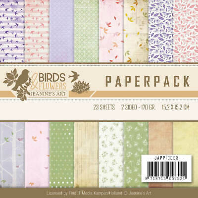 Paperpack - 15,2 x 15,2cm - Jeanines Art - Birds and Flowers – 170gr -