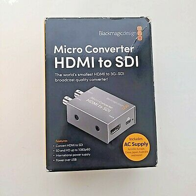 Blackmagic Design Micro Converter HDMI to SDI with Power Supply - Stock in Miami