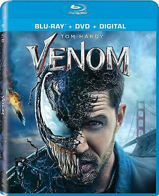New Venom (Blu-Ray + Dvd + Digital) Tom Hardy With No Slipcover