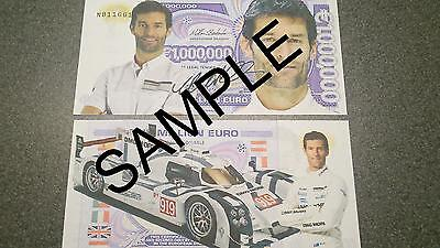 Mark Webber Million Euro Bank Note Millionaire Banknote