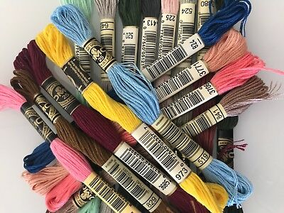 30 X BRAND NEW  DMC Stranded Cotton thread YOU CHOOSE YOUR COLOURS.