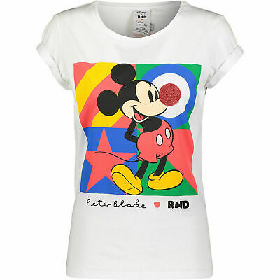 Sold Out DISNEY Red Nose Day PETER BLAKE Ladies TShirt COMIC RELIEF Mickey Mouse