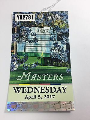 2017 Masters Golf Wednesday Practice Round Ticket Augusta National Ships Fast