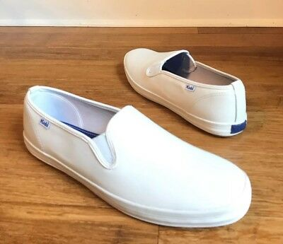 7cb3cc6a914 KEDS CHAMPION WOMENS White Leather Slip-On Shoes Sneaker WH48600 Sz ...