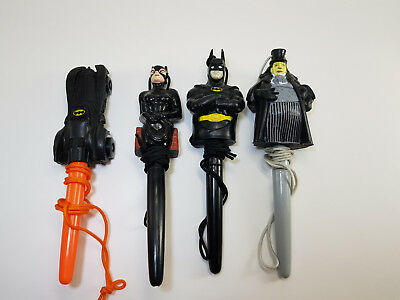 McDonald's  Toys Batman 1992 Batman, Catwoman, The Penguin, The Batmobile. Pen