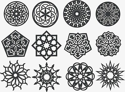 DXF FILES FOR CNC Router Plasma Cutter DXF CDR Files Vector Clipart - 12  Design