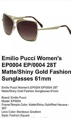 34ca9dde92 EMILIO PUCCI SUNGLASSES Rose Gold And Gold Metal Oversized Frames ...