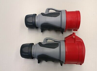 Pce Grip Tt Ip44 Cee 16a 5p Red Set Plug and Clutch 5 Pin