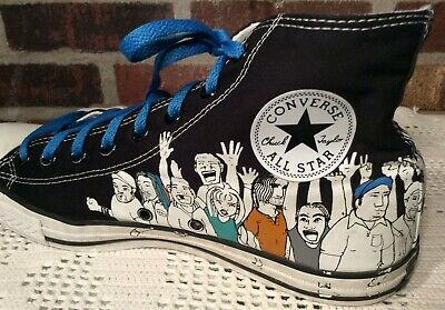 Converse All Star Chuck Taylor Long Neck Graffiti Shoes Size Men 10 Women  12 GUC c41177c33