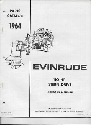 1968 OMC EVINRUDE Johnson Stern Drive 155 HP HU-16C HUE-16C Parts
