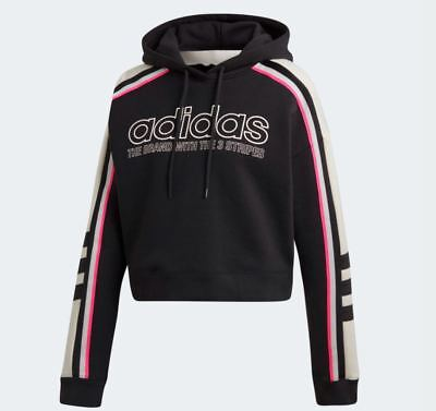 f0a42d8b NEW ADIDAS ORIGINALS Women's Cropped Trefoil Hoodie ~Size Large ...