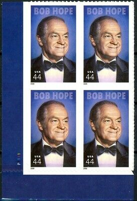 Bob Hope MNH Numbered Plate Block of 4 Plate # P1111 Scott's 4406