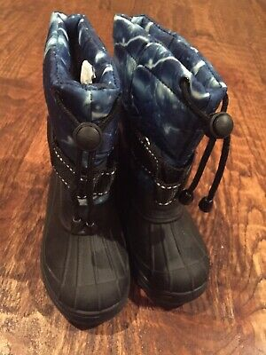 SKADOO Girls or boys todler rubber boots - black and blue size 8