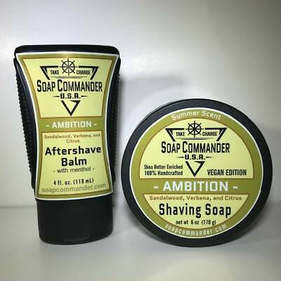 Ambition Shaving Soap and Aftershave Balm - by Soap Commander (Pre-Owned)