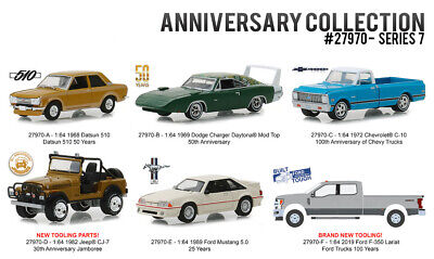 Greenlight 1:64 Anniversary Collection Series 7 Assortment 6 Styles Diecast Car