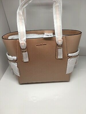 a8e78244efc0 NWT MICHAEL KORS Voyager East West Crossgrain Leather Tote Ballet ...