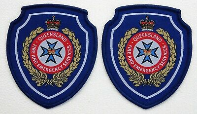 Queensland Fire & Emergency Services Social patches x 2 - Social / Not Official