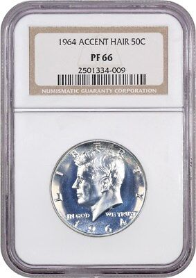 1964 50c NGC PR 66 (Accented Hair) Popular Variety - Kennedy Half Dollar