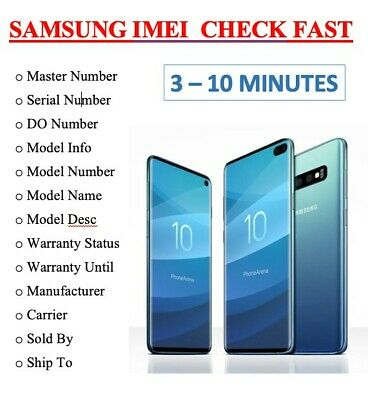 FAST SAMSUNG INFO CHECK: IMEI / Manufacturer / Warranty / Sold by / Carrier