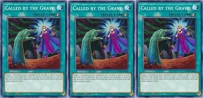 *** 3X Called By The Grave 3X *** Playset Yugioh! Flod-En065 Mint/Nm