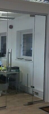 Interior Office Glass Doors - 10mm Toughened Glass with or without locks