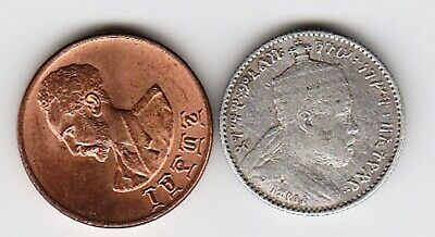 2 different world coins from ETHIOPIA