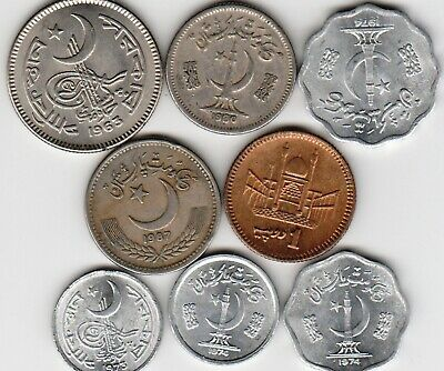 8 different world coins from PAKISTAN