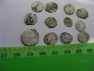 Lot of 12 ANTIQUE Ottoman/Muslim Silver  Coins or appear to be silver,Small size