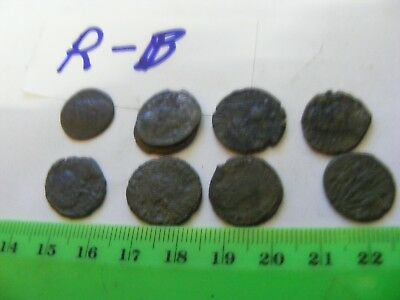 Lot of 8 Ancient Roman Coins...good used condition ,bronze...(R-B)