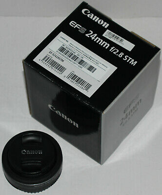 Canon EF-S 24mm f/2.8 STM 'pancake' prime lens (with box) in excellent condition