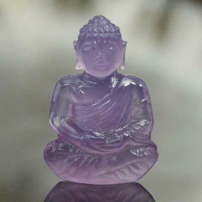 Sculpture of the Buddha Natural Purple Lavender Chalcedony Gem Carving 8.00 cts