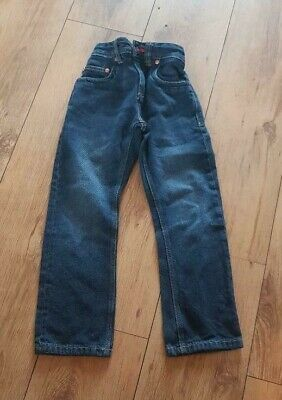 Boys 'NEXT' Dark blue part elasticated/button/zip Jean.7 Years. vgc.