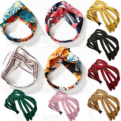 2019 Fashion Women Lady Turban Twist Knot Head Wrap Headband Twisted Hair Band